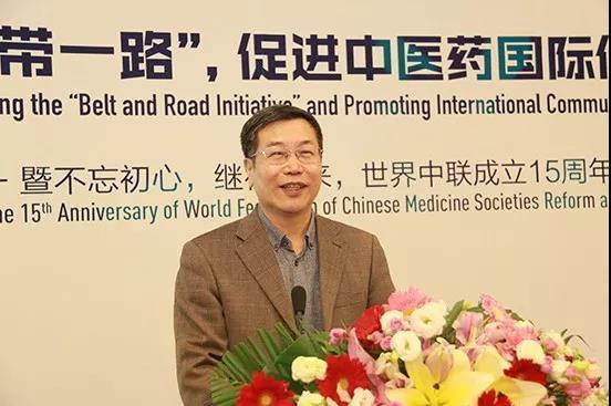 世界针灸学会联合会秘书长麻颖发言